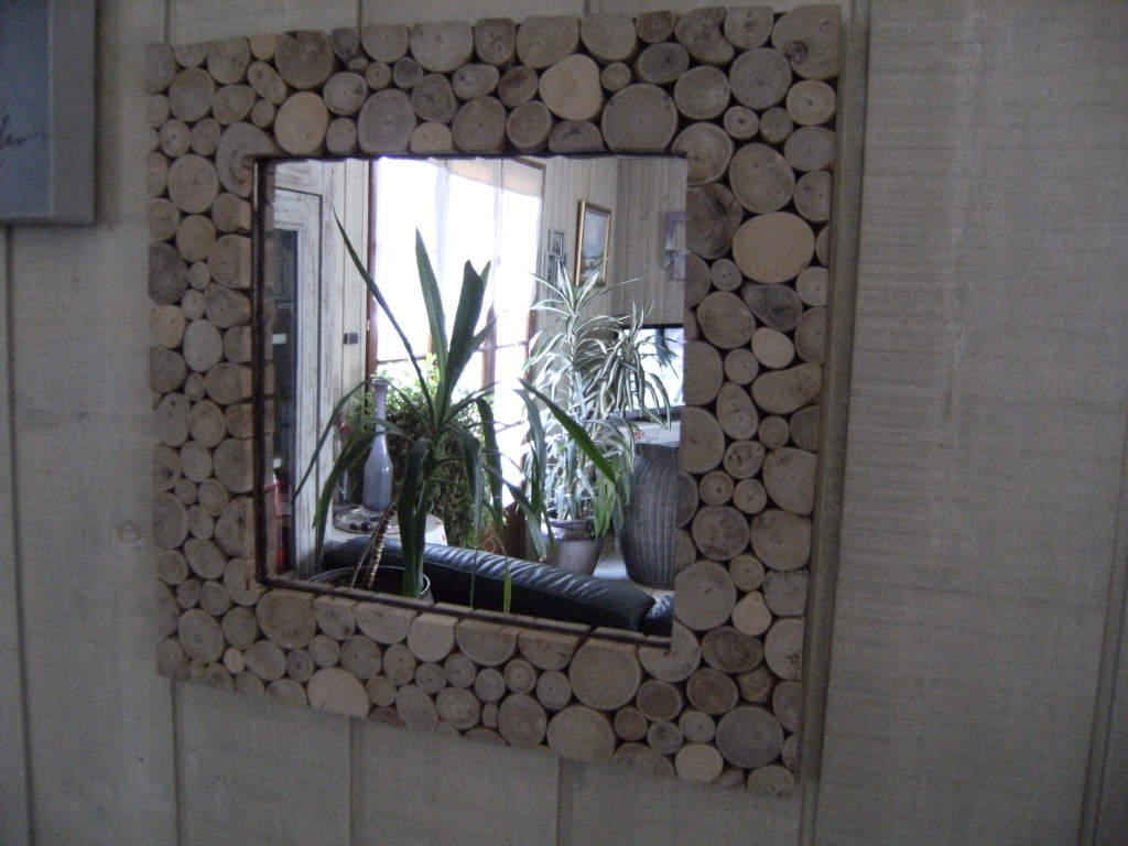 Miroir rondin de bois cr ations d 39 elise for Marie mai miroir download